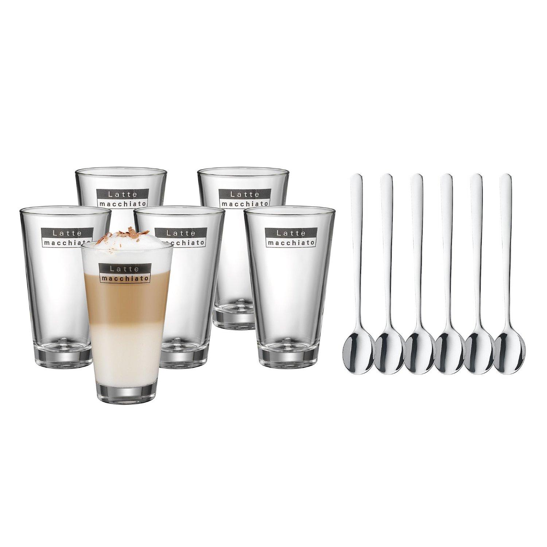 latte macchiato gl ser mit l ffeln im set von wmf. Black Bedroom Furniture Sets. Home Design Ideas