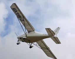Hoehenflug im Ultraleichtflugzeug