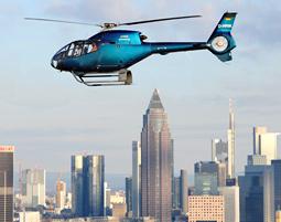 Hubschrauber-Rundflug ueber Frankfurt