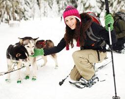 Husky Schneeschuhtour