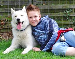 Husky-Tour fuer Kinder