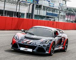 Lotus Exige V6 Cup Renntaxi am Hockenheimring