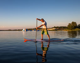 Stand-Up-Paddling Tour durch Leipzig