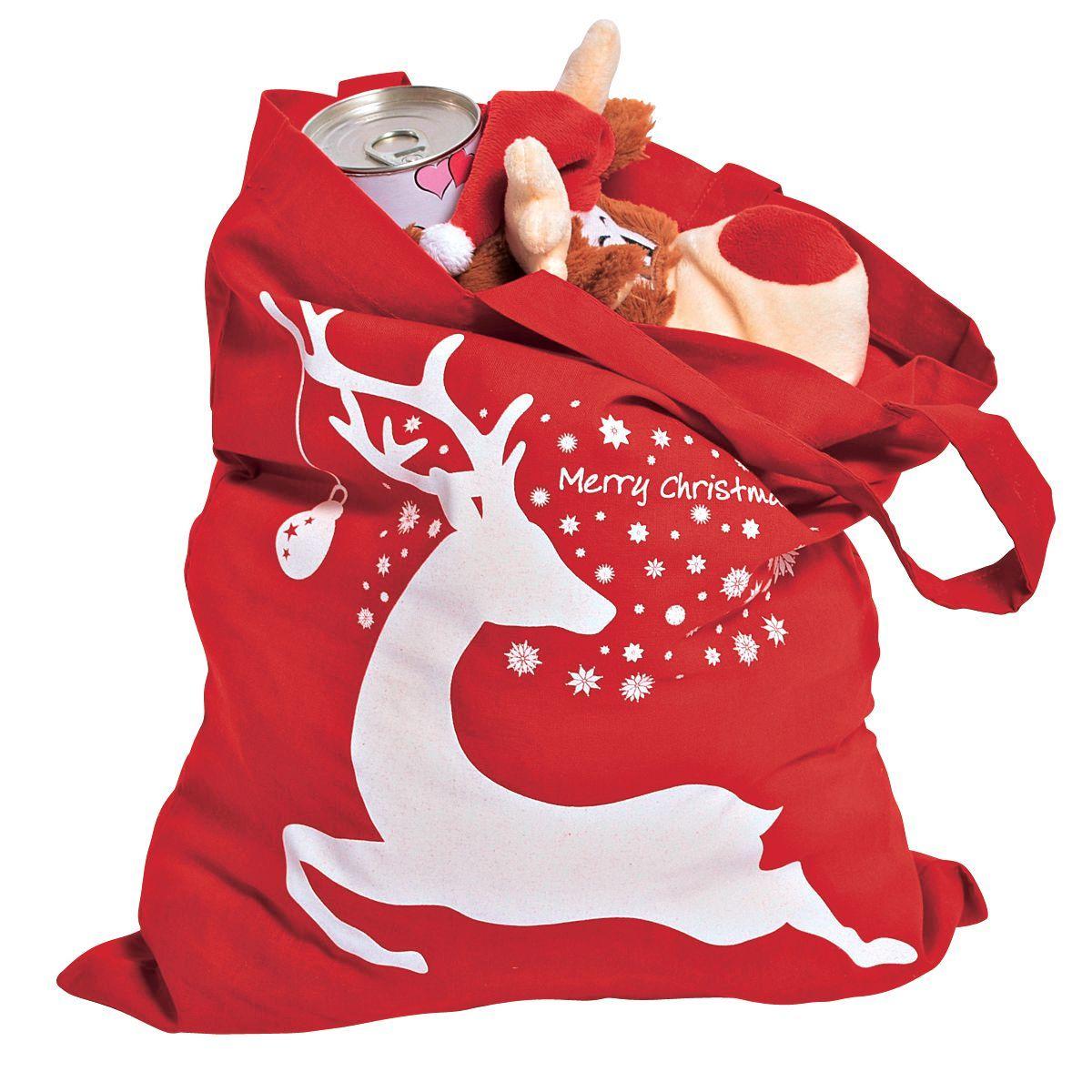 Mini Baumwolltasche 'Merry Christmas - einfach-geschenke-finden.de