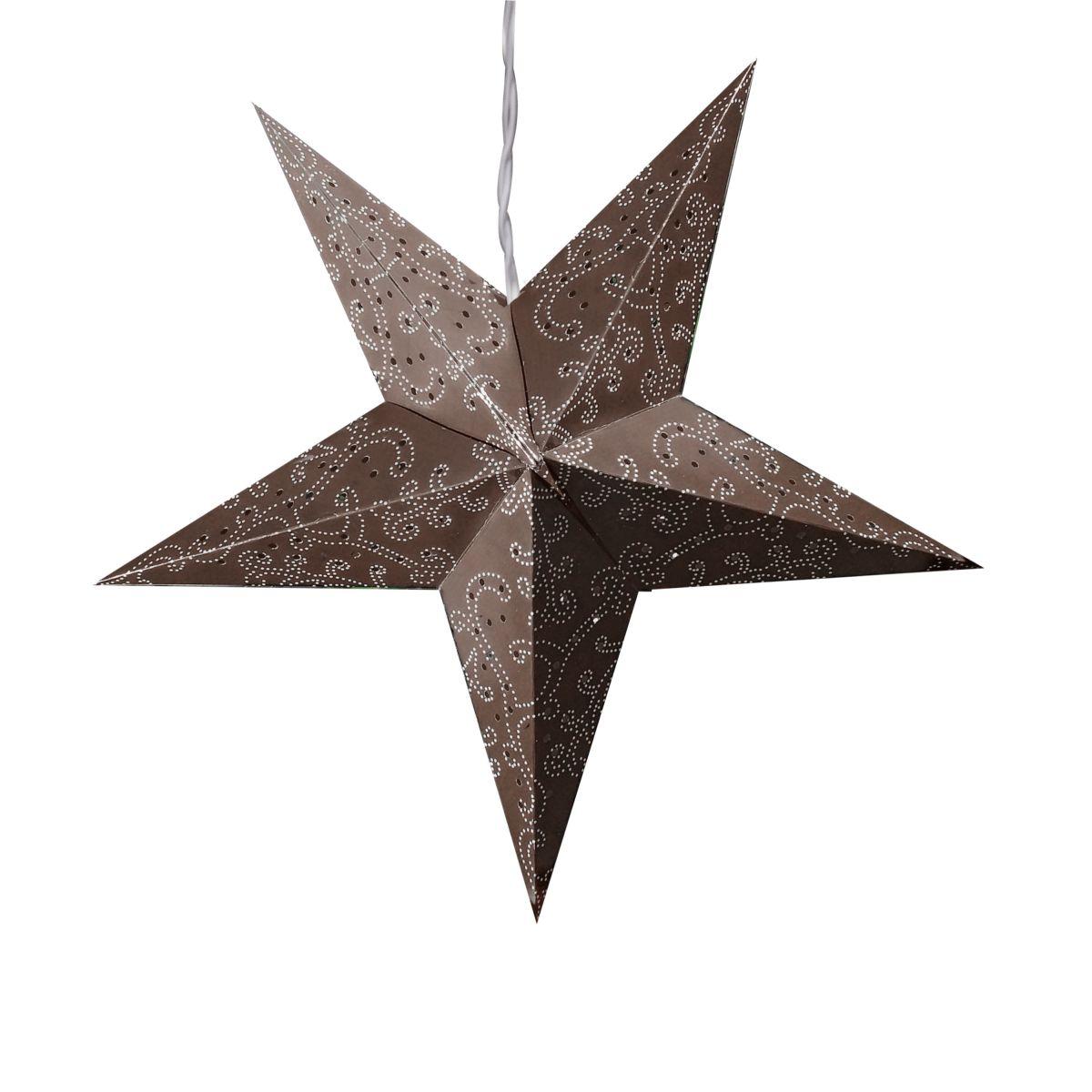 beleuchteter stern ornament braun einfach geschenke. Black Bedroom Furniture Sets. Home Design Ideas