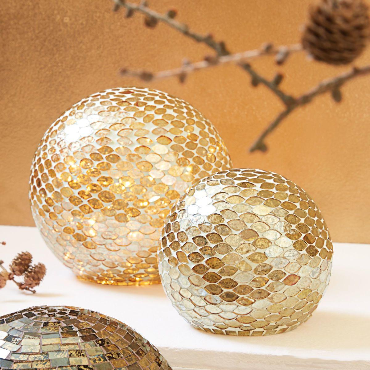 deko objekt mosaik kugel handgearbeitet glas einfach. Black Bedroom Furniture Sets. Home Design Ideas