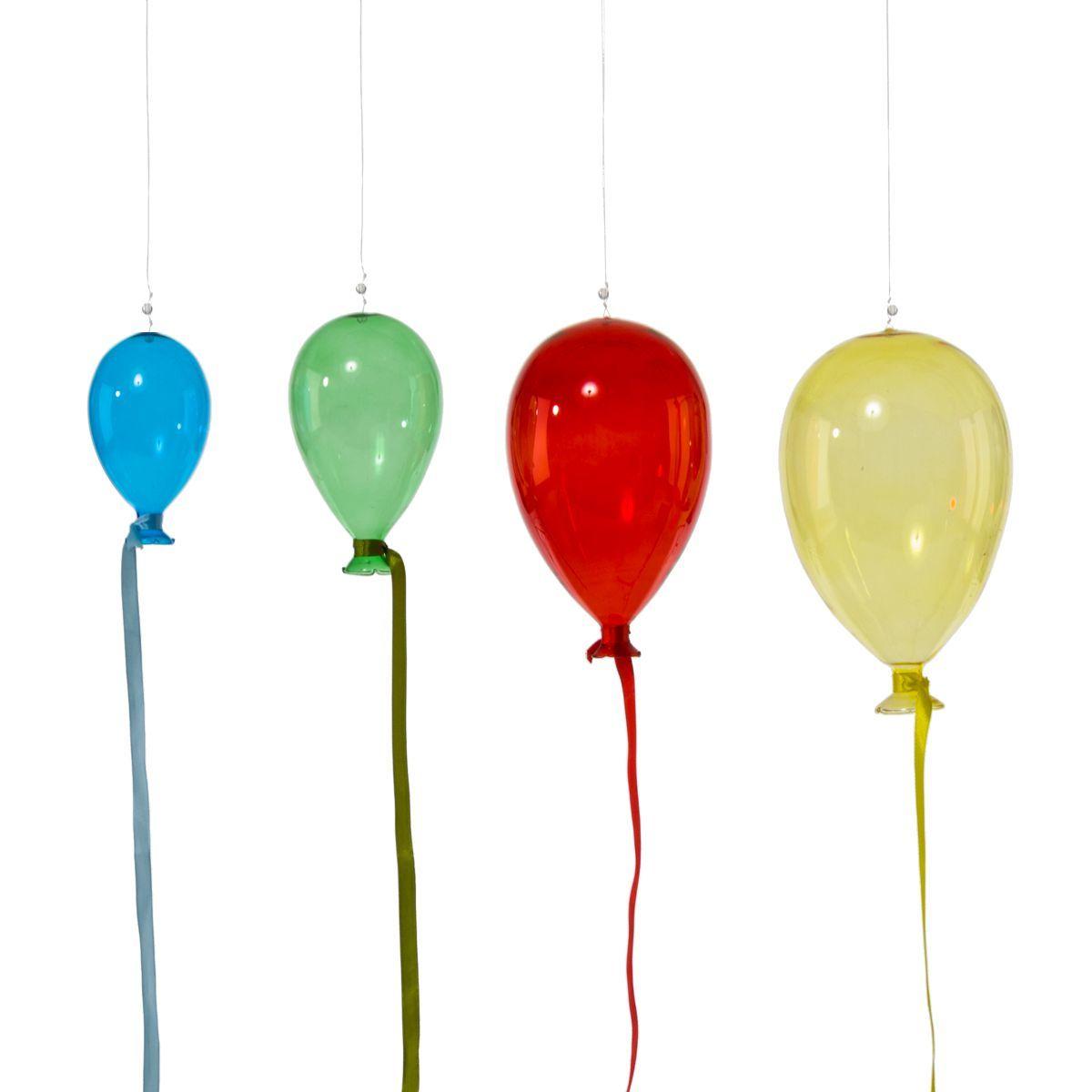 dekoh nger set bunte luftballons 4 tlg einfach. Black Bedroom Furniture Sets. Home Design Ideas