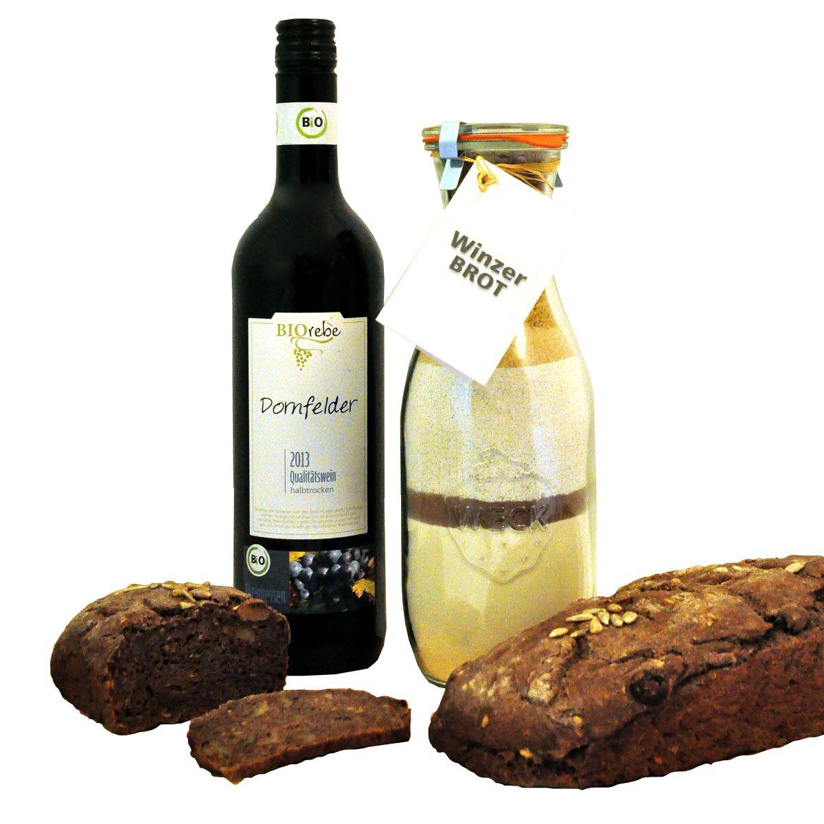 Geschenk-Set Winzer-Brot - einfach-geschenke-finden.de