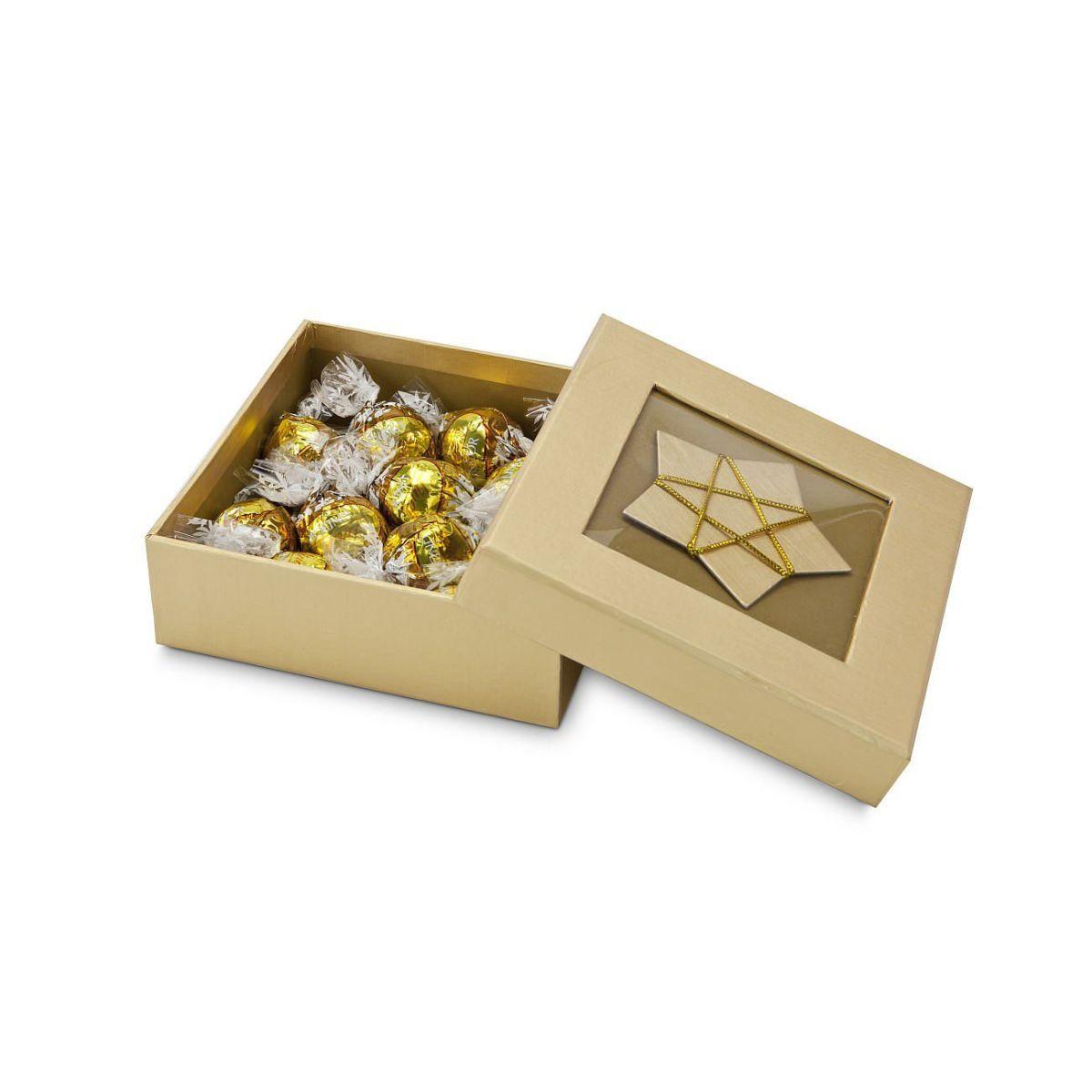 Geschenk-Set Goldene Trüffel-Schachtel, 12 Stück Lindt.Kugeln ...