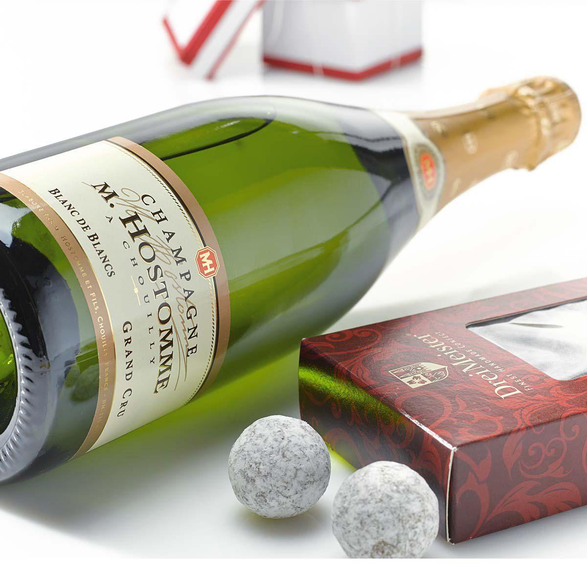 Geschenk-Set, Champagner Hostomme Grand Cru, 100g Champagner Trüffel ...