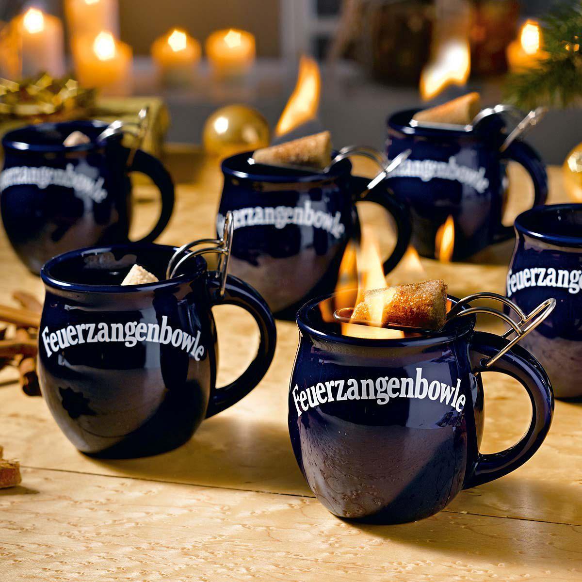 Geschenkset Feuerzangenbowle, 2 Tassen, Glühwein, Zimt