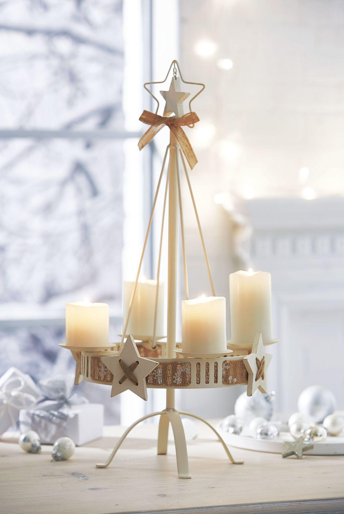 kerzenst nder white christmas ca h he 57 cm einfach. Black Bedroom Furniture Sets. Home Design Ideas