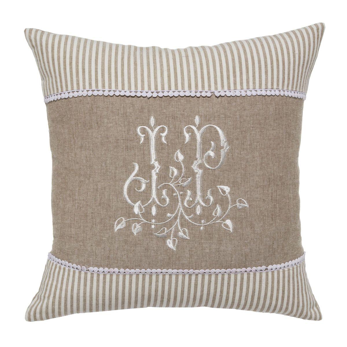 kissenh lle romantik mit rei verschlu einfach. Black Bedroom Furniture Sets. Home Design Ideas
