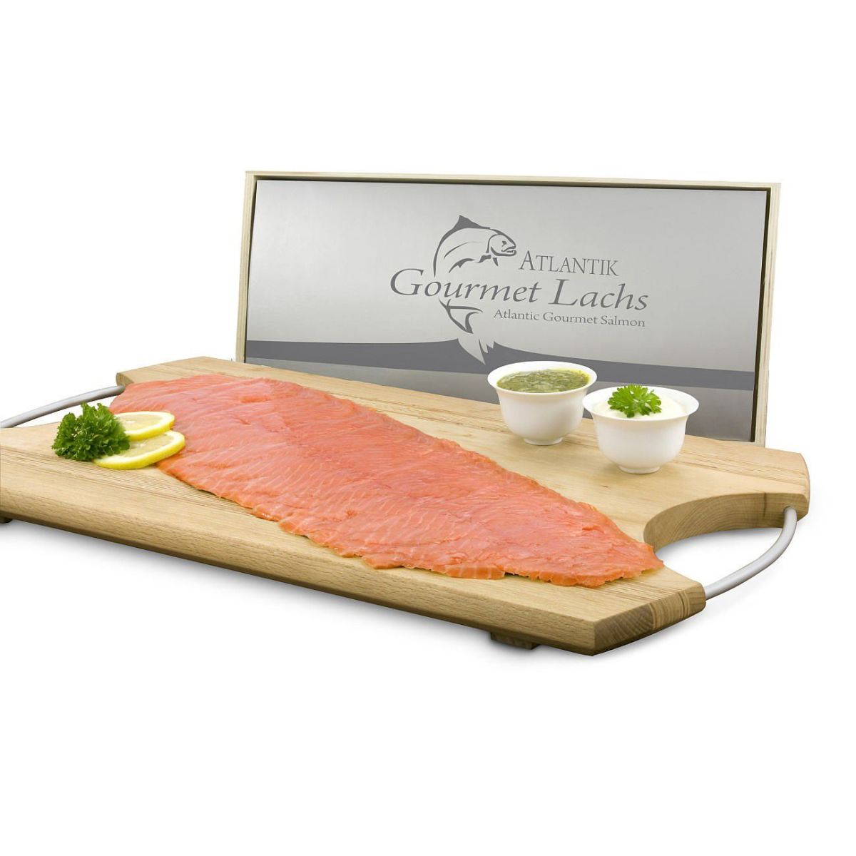 lachspr sent 39 gourmet 39 300g lachs 50g meerrettich 50g senf dill sauce einfach geschenke. Black Bedroom Furniture Sets. Home Design Ideas