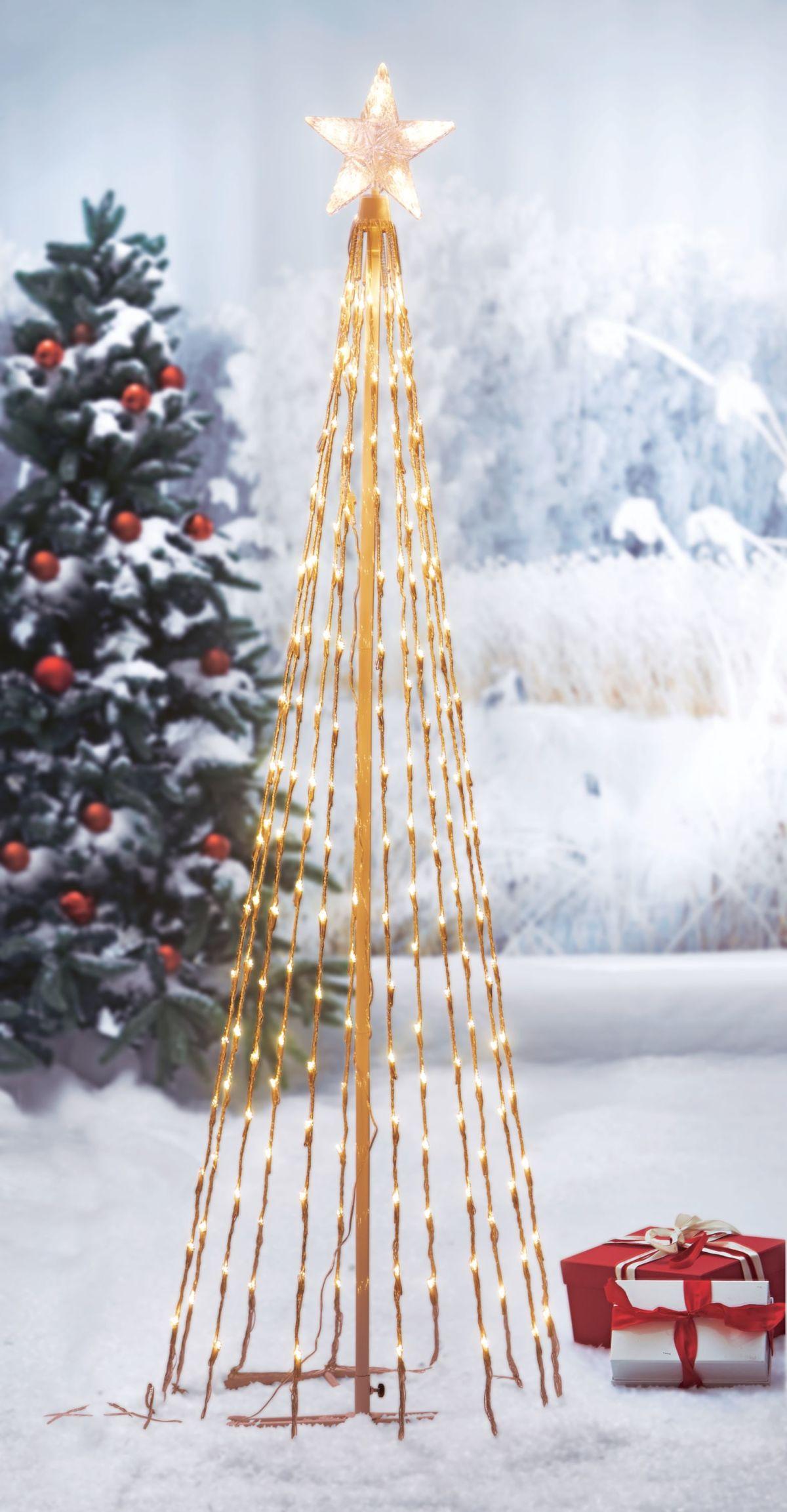 led lichterbaum schneefall outdoorgeeignet metall kunststoff ca h194 cm einfach geschenke. Black Bedroom Furniture Sets. Home Design Ideas