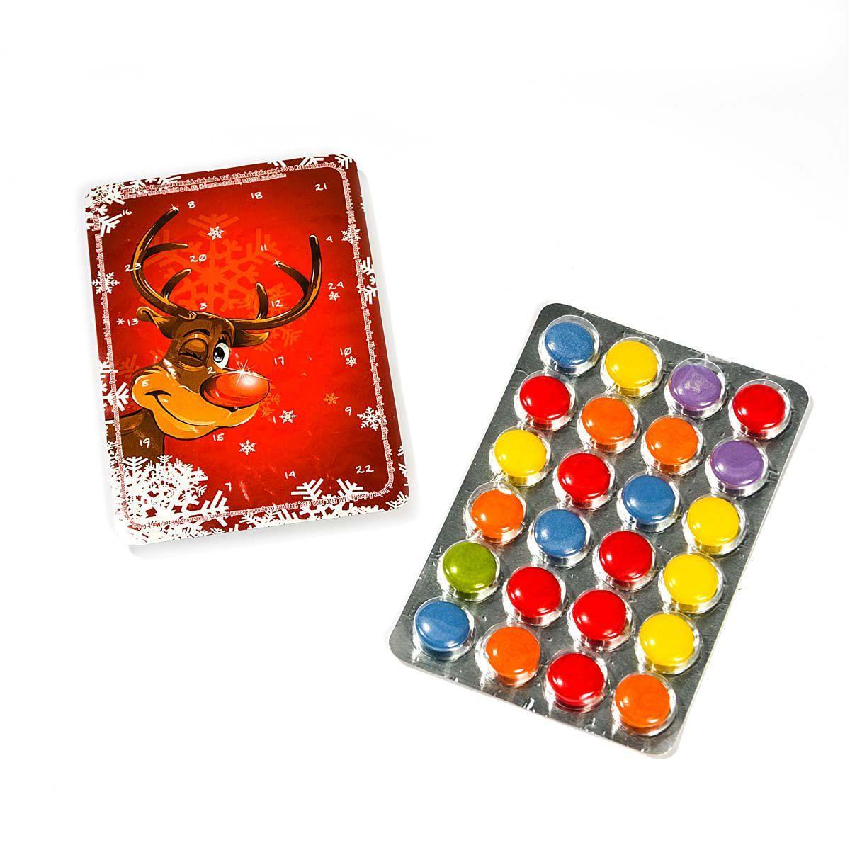 mini adventskalender 24 schokoladenlinsen b11xt0 7xh8cm einfach geschenke. Black Bedroom Furniture Sets. Home Design Ideas