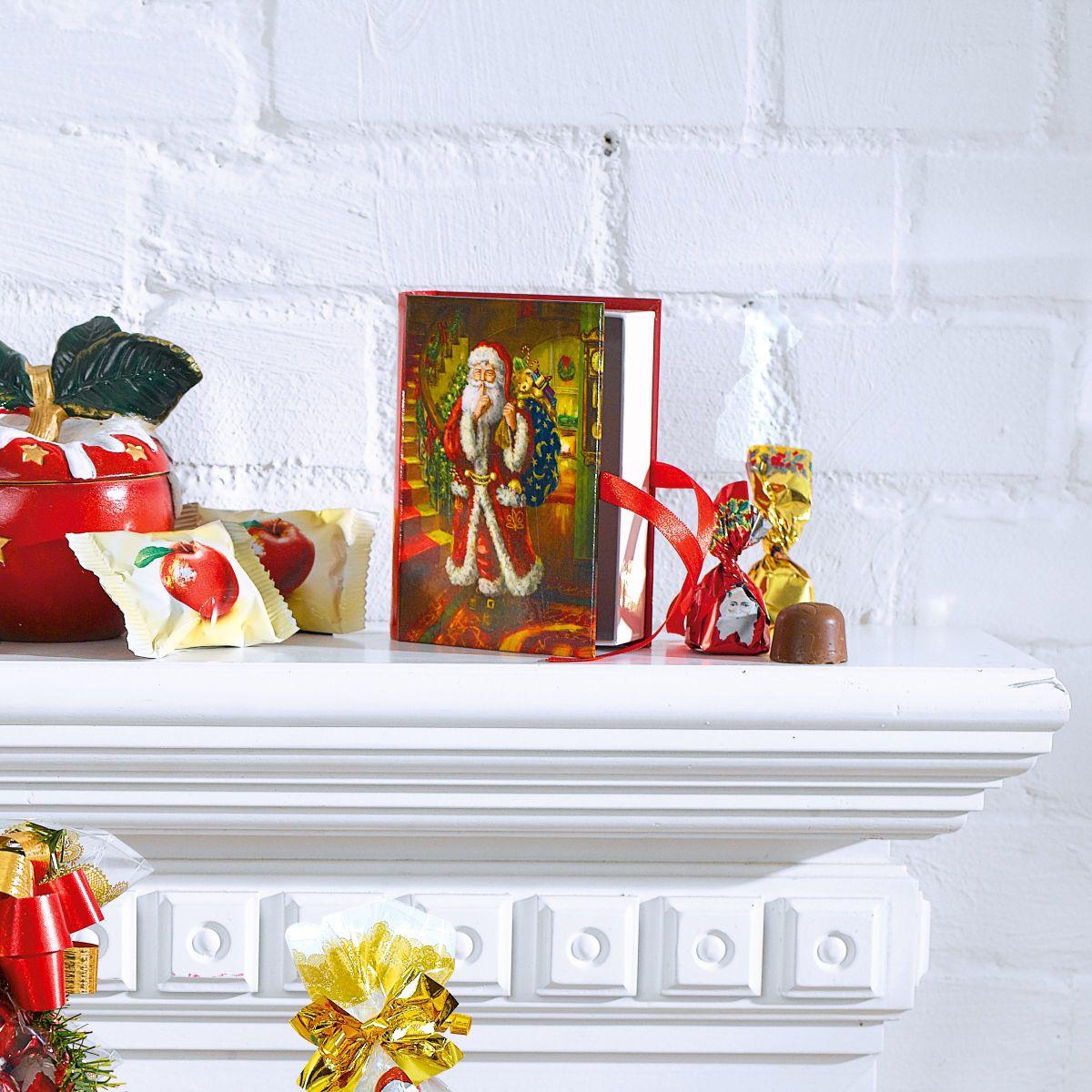 nostalgie buch mit pralinen 75g weihnachtspralinen ca. Black Bedroom Furniture Sets. Home Design Ideas