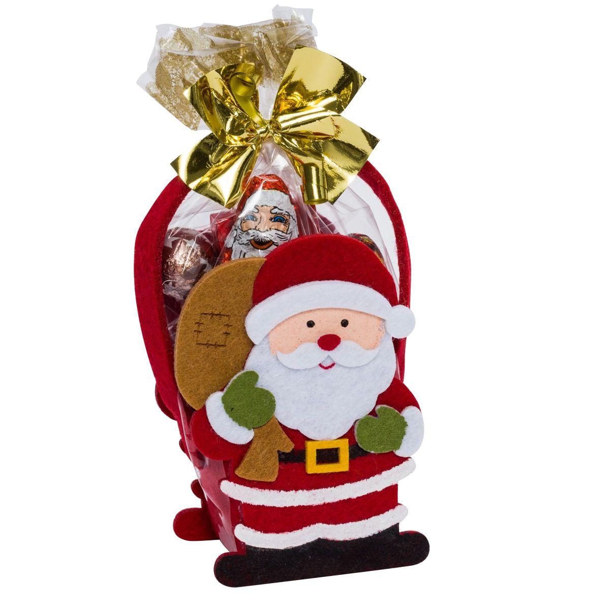 Weihnachts-Filztäschchen, 50g Schokolade - einfach-geschenke-finden.de