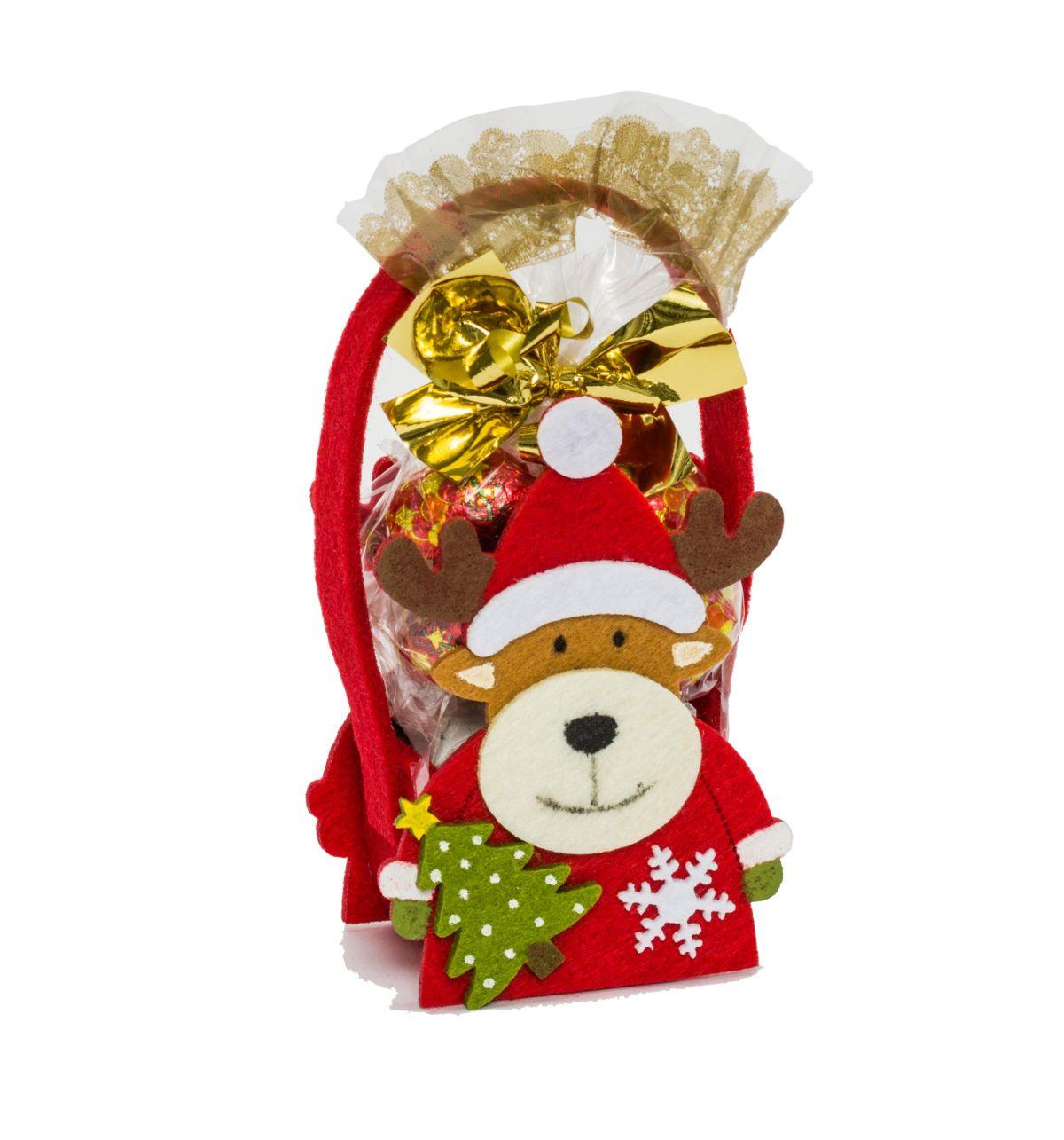 weihnachts filzt schchen 50g schokolade einfach. Black Bedroom Furniture Sets. Home Design Ideas