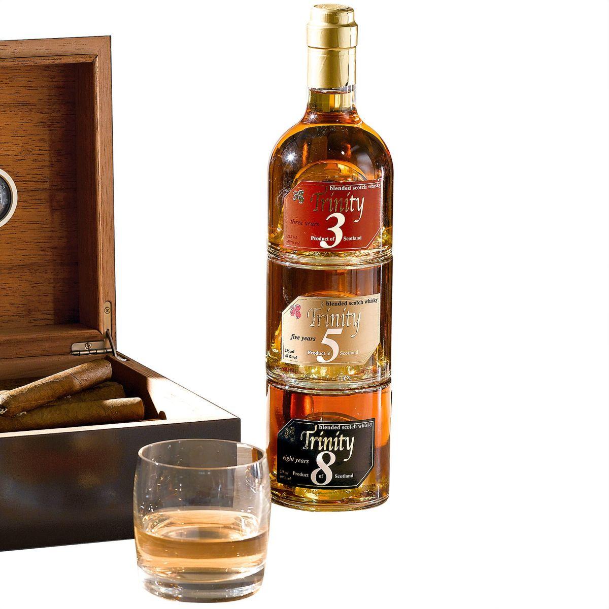 Whisky-Set, je 250ml, stapelbar, Glas - einfach-geschenke-finden.de