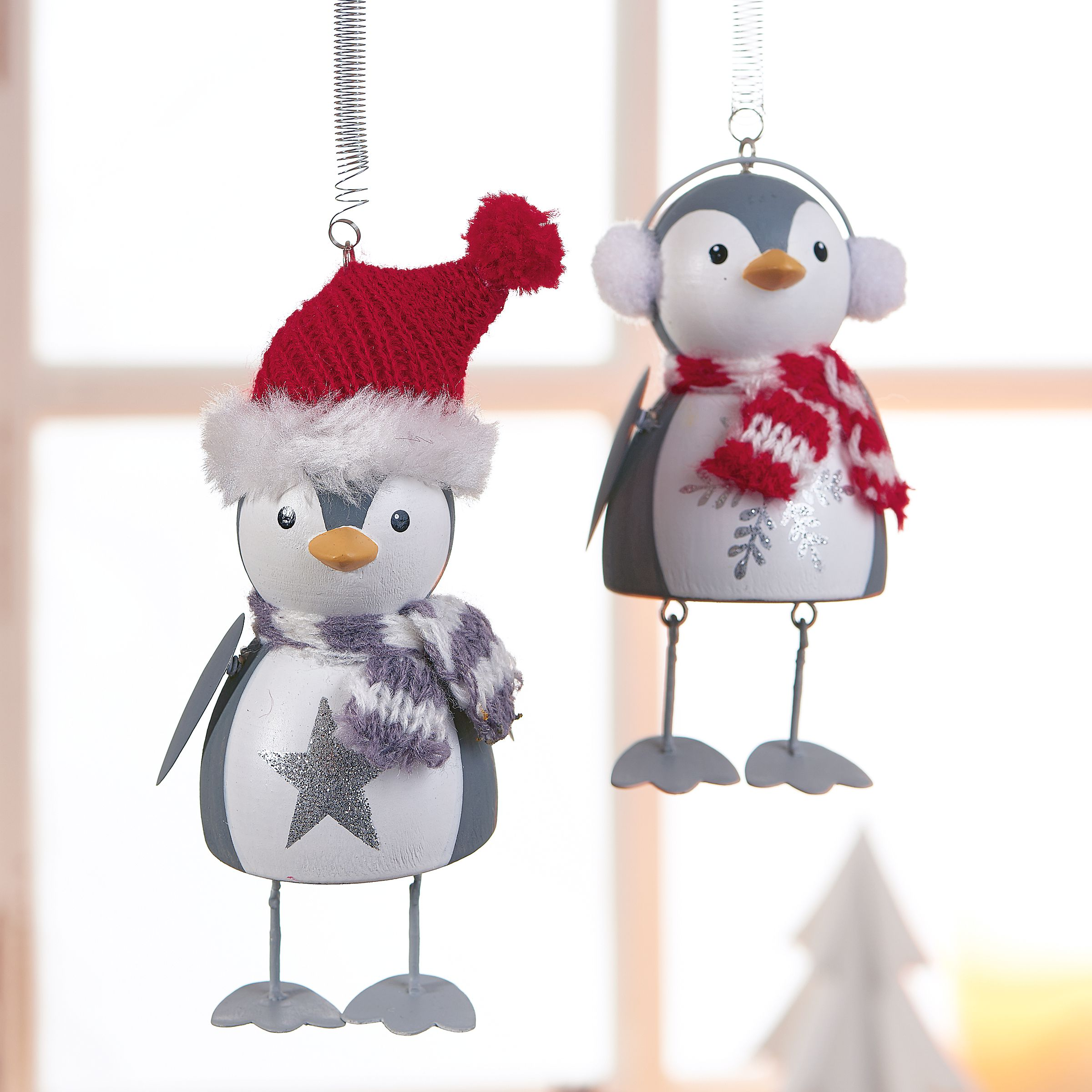 Deko h nger set 2 tlg little penguins for Deko geschenke