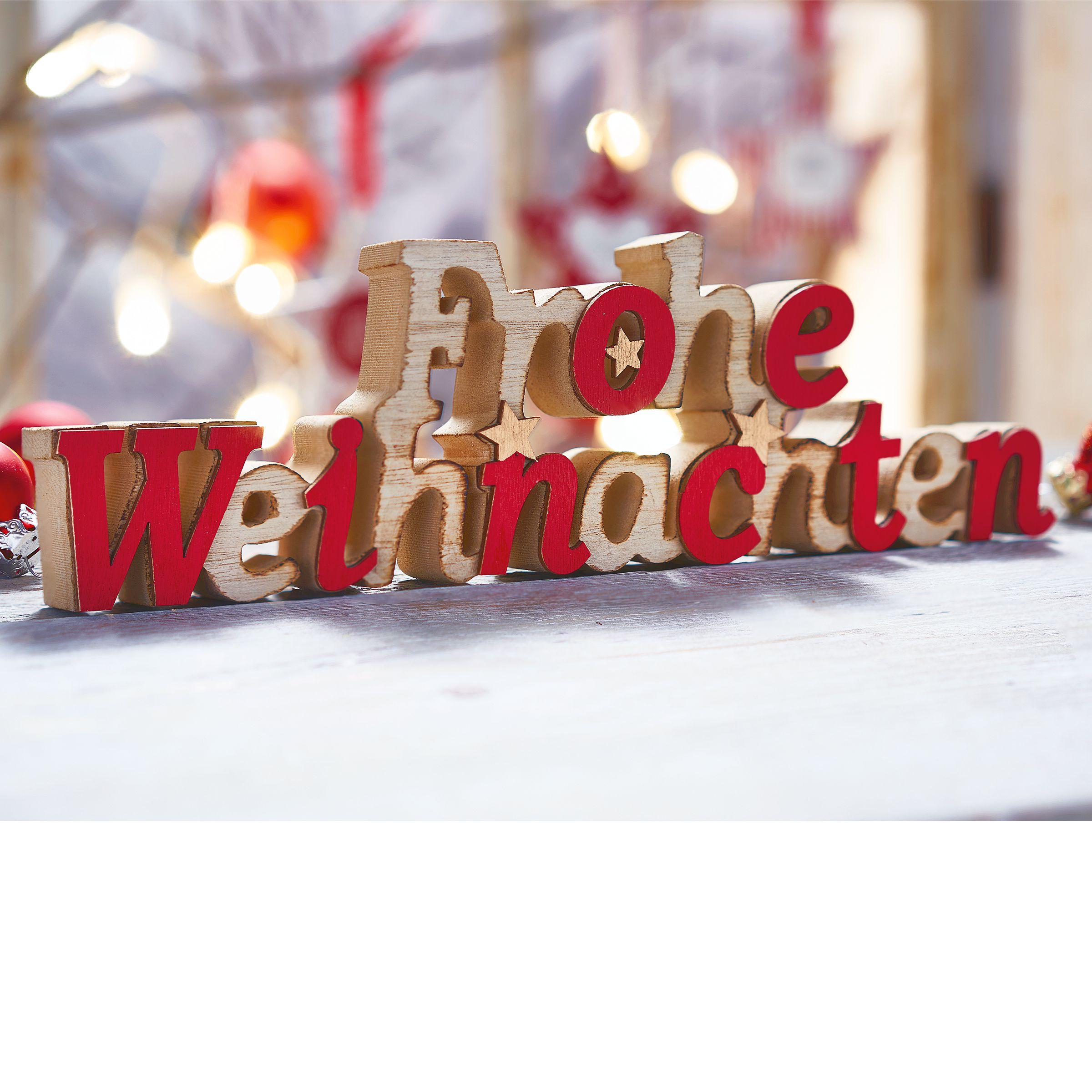 deko objekt schriftzug frohe weihnachten einfach geschenke. Black Bedroom Furniture Sets. Home Design Ideas