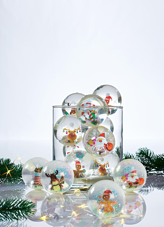 Flummi-Set, mit Licht, 12-tlg. Merry Christmas, mit Wechsellicht ...
